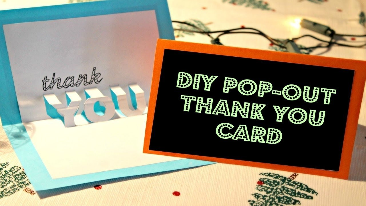 10 Famous Ideas For Thank You Cards diy easy pop out thank you card youtube 1 2020