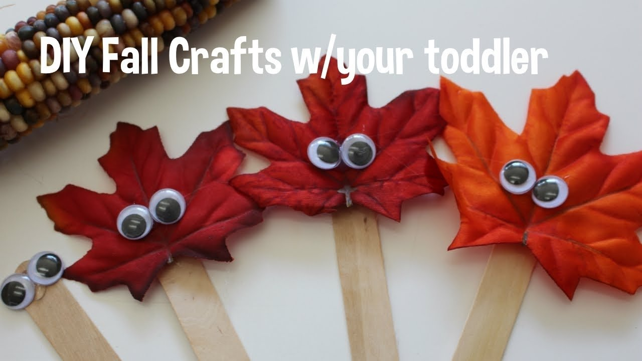 diy fall crafts - toddler friendly! - youtube