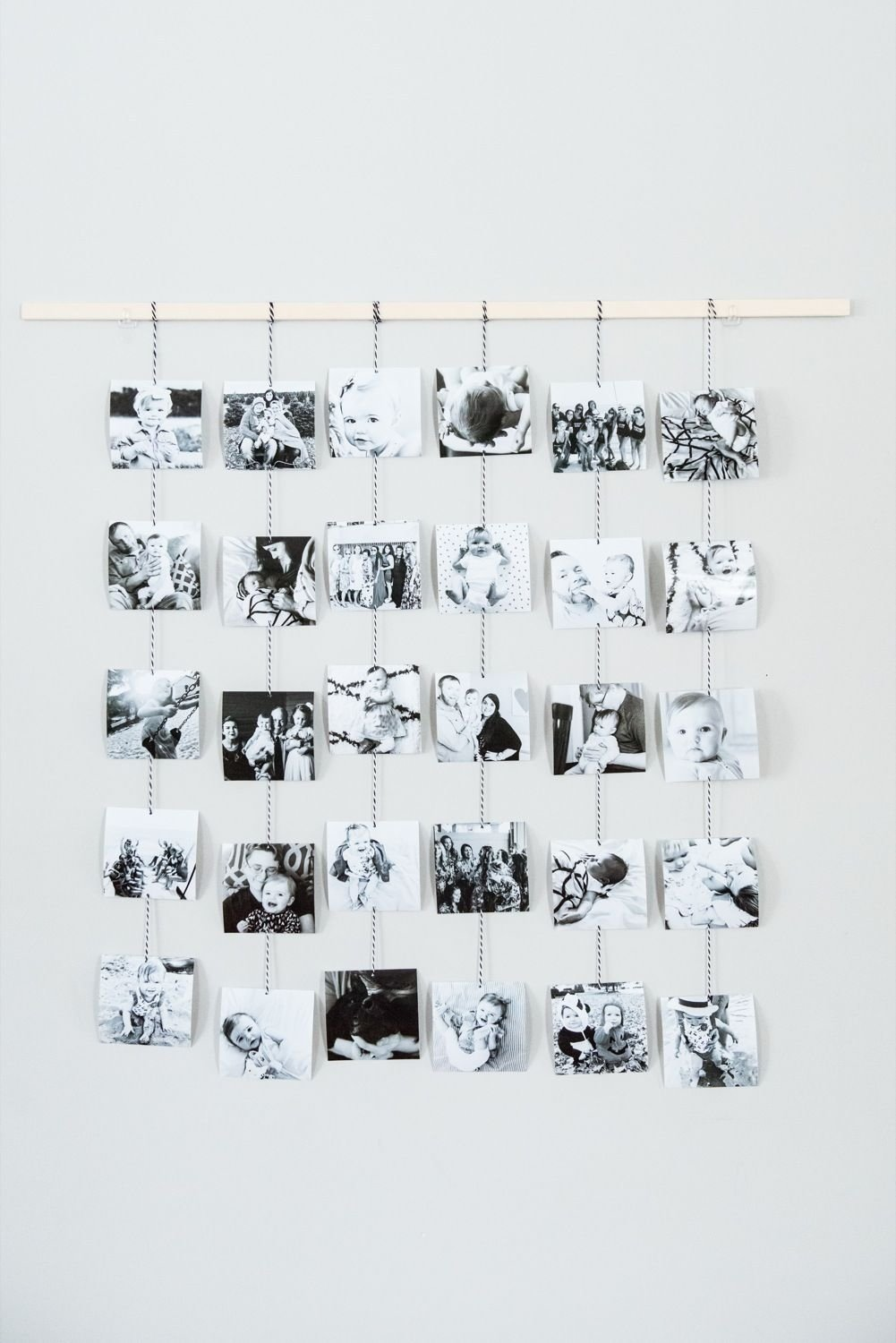 10 Unique Hanging Pictures On Wall Ideas diy family photo wall hanging photo wall diy ideas and ornament 1 2020