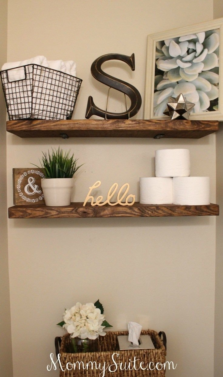 diy faux floating shelves | shelves, house and bath