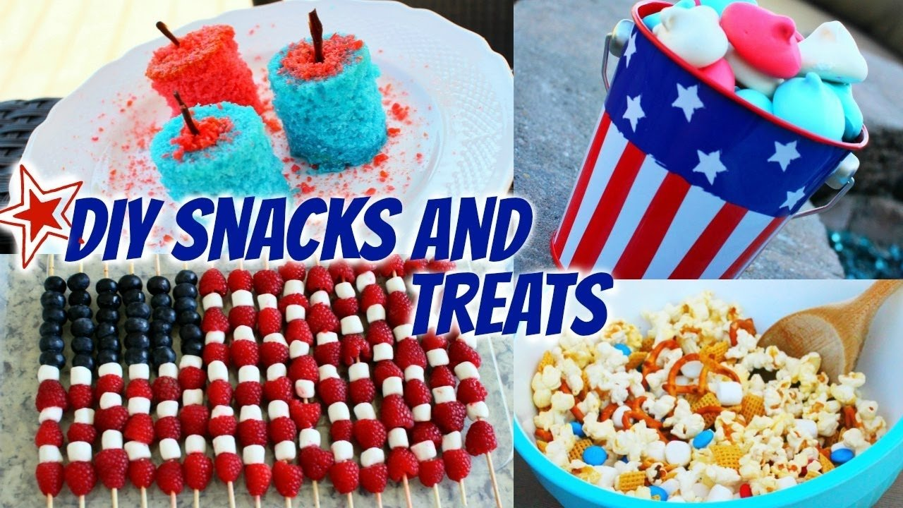 diy fourth of july snacks & treats! - youtube