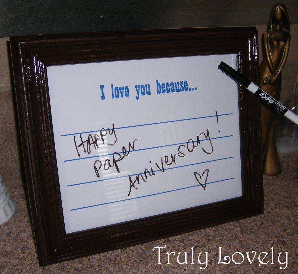 10 Most Popular One Year Anniversary Gift Ideas For Him diy frame i love you because anniversary present 3 2021