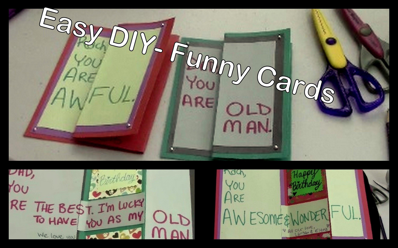 10 Spectacular Funny Homemade Birthday Card Ideas Diy Cards For Friends Family Youtube