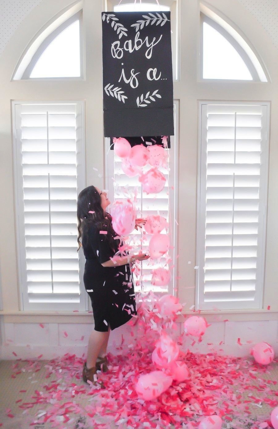 diy gender reveal confetti box | gender reveal, gender and confetti