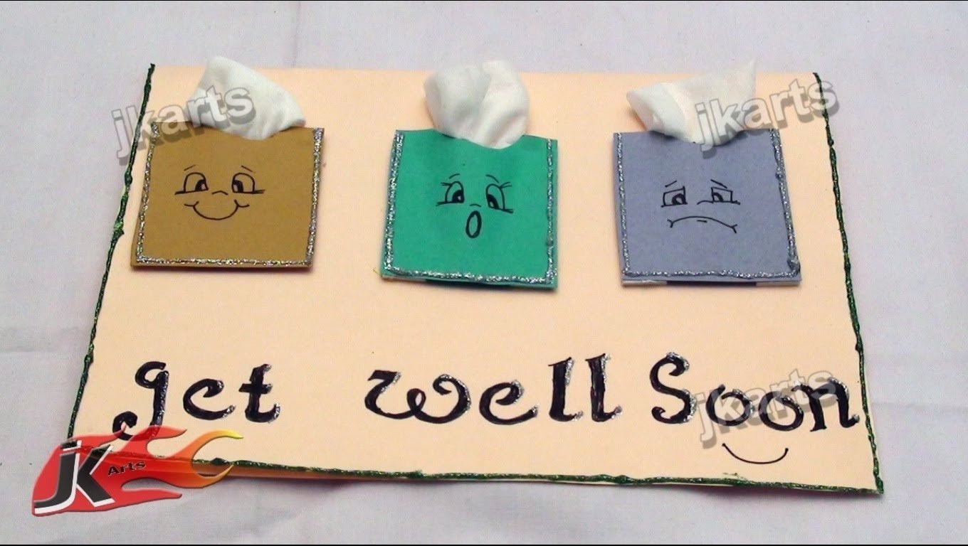 diy get well soon greeting card jk arts 178 - youtube