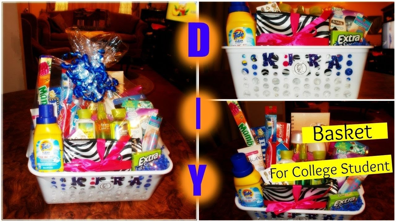 10 Stylish Going Away To College Gift Ideas diy gift basket for a college student youtube 2020