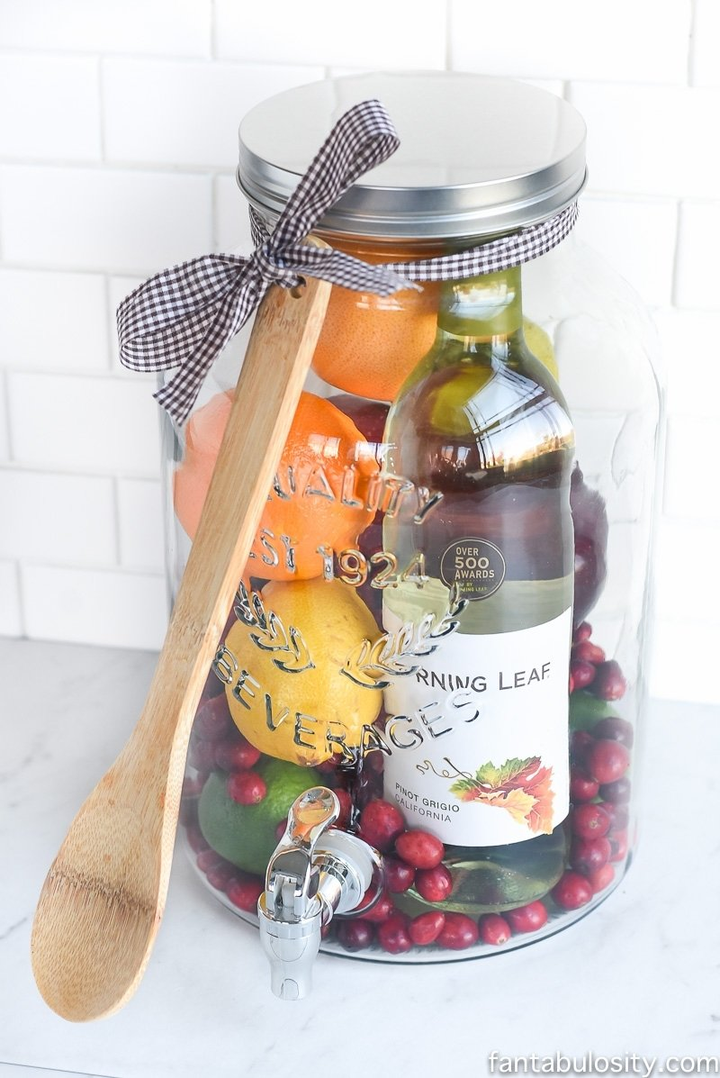 10 Best Hostess Gift Ideas For House Guests diy gift idea sangria for friends fantabulosity 1 2021