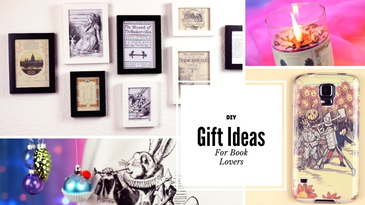 10 Spectacular Gift Ideas For Book Lovers diy gift ideas for book lovers youtube 2020