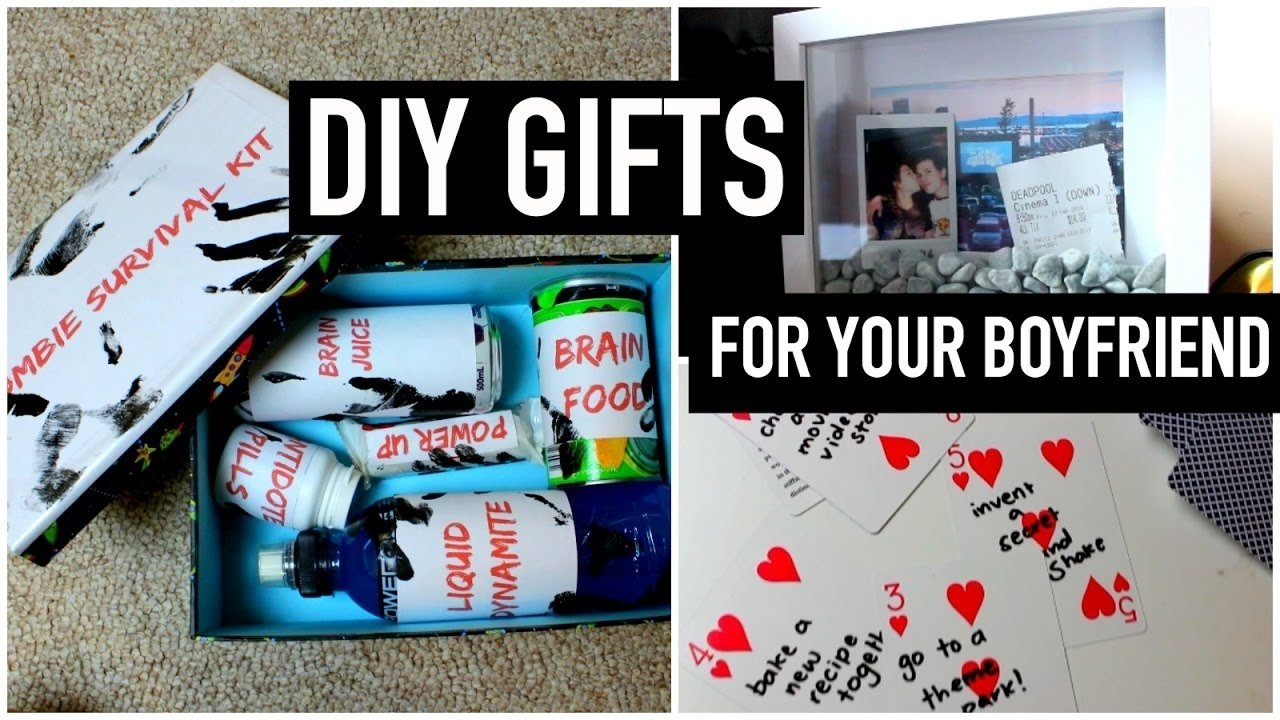 10 Trendy Gift Ideas For Your Boyfriend diy gifts for your boyfriend partner husband etc last minute 4