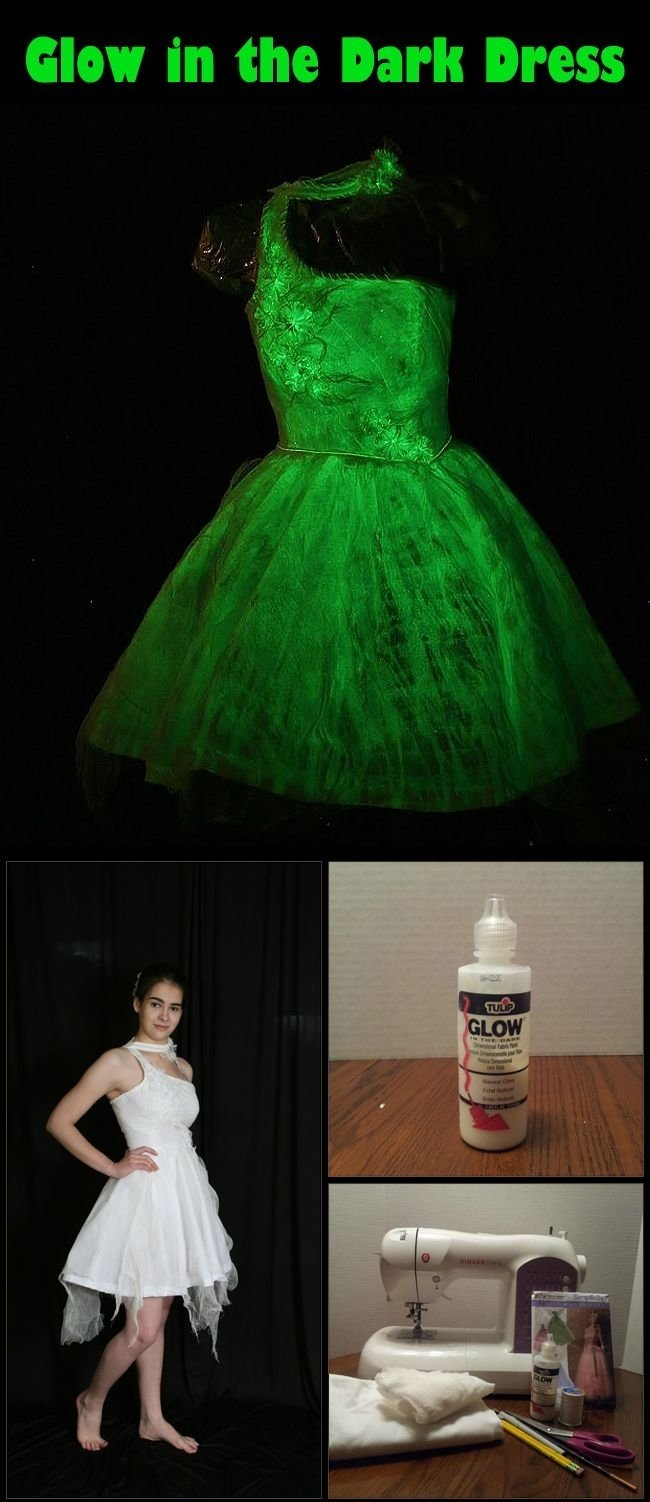 diy: glow in the dark dress. a perfect hostess dress for our