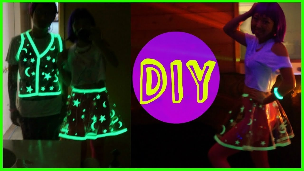 10 Trendy Glow In The Dark Outfit Ideas diy glowing vinyl skirt costume youtube 2021