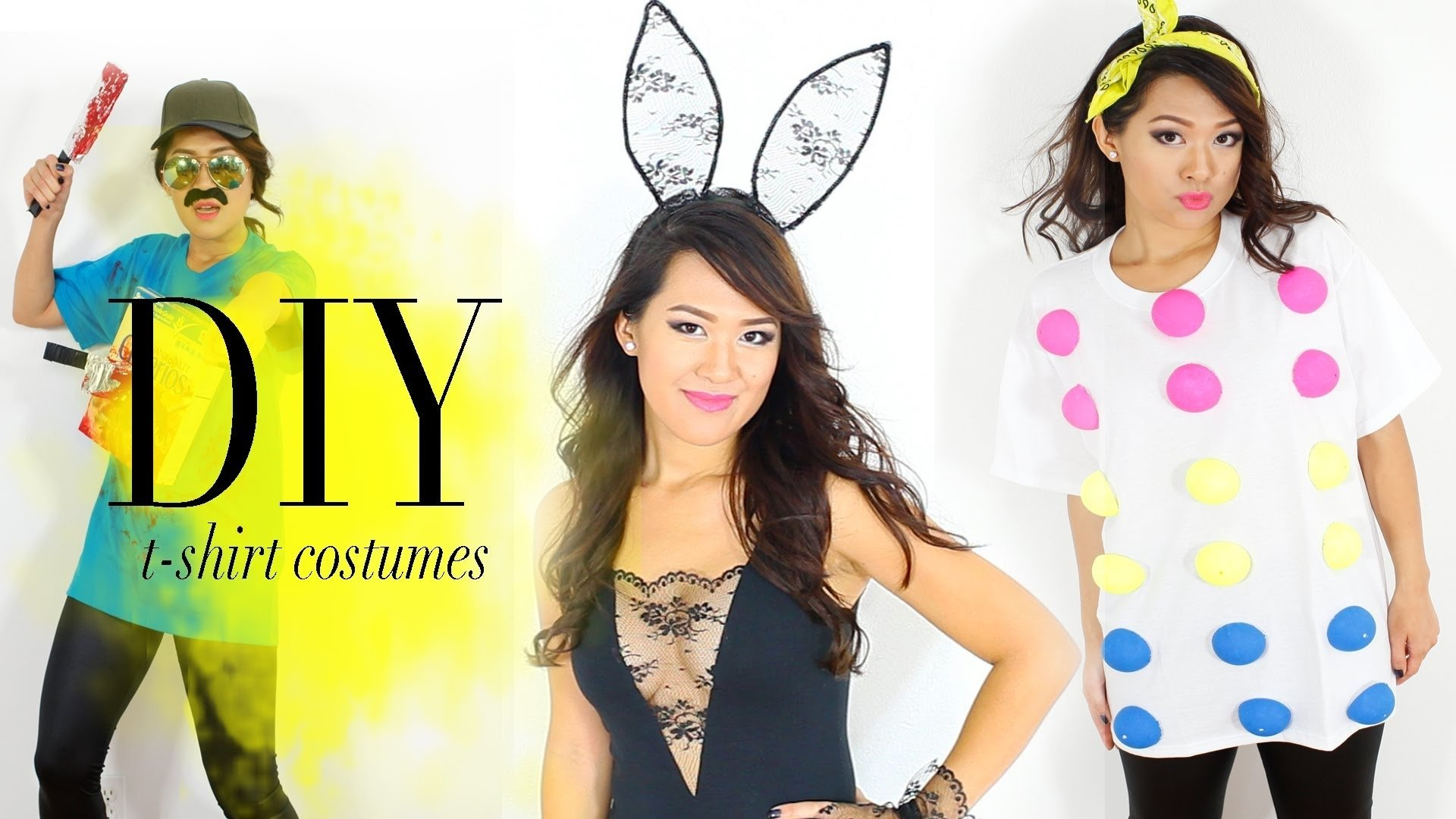 10 Lovable Easy Cute Halloween Costume Ideas diy hack t shirts into halloween costumes easy ann le youtube 3 2021