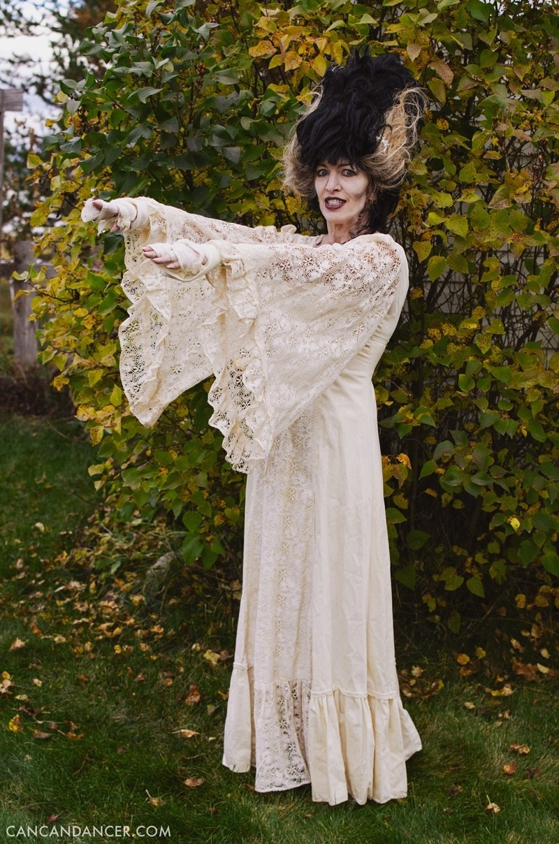 10 Perfect Bride Of Frankenstein Costume Ideas diy halloween costume 5 bride of frankenstein can can dancer 2021