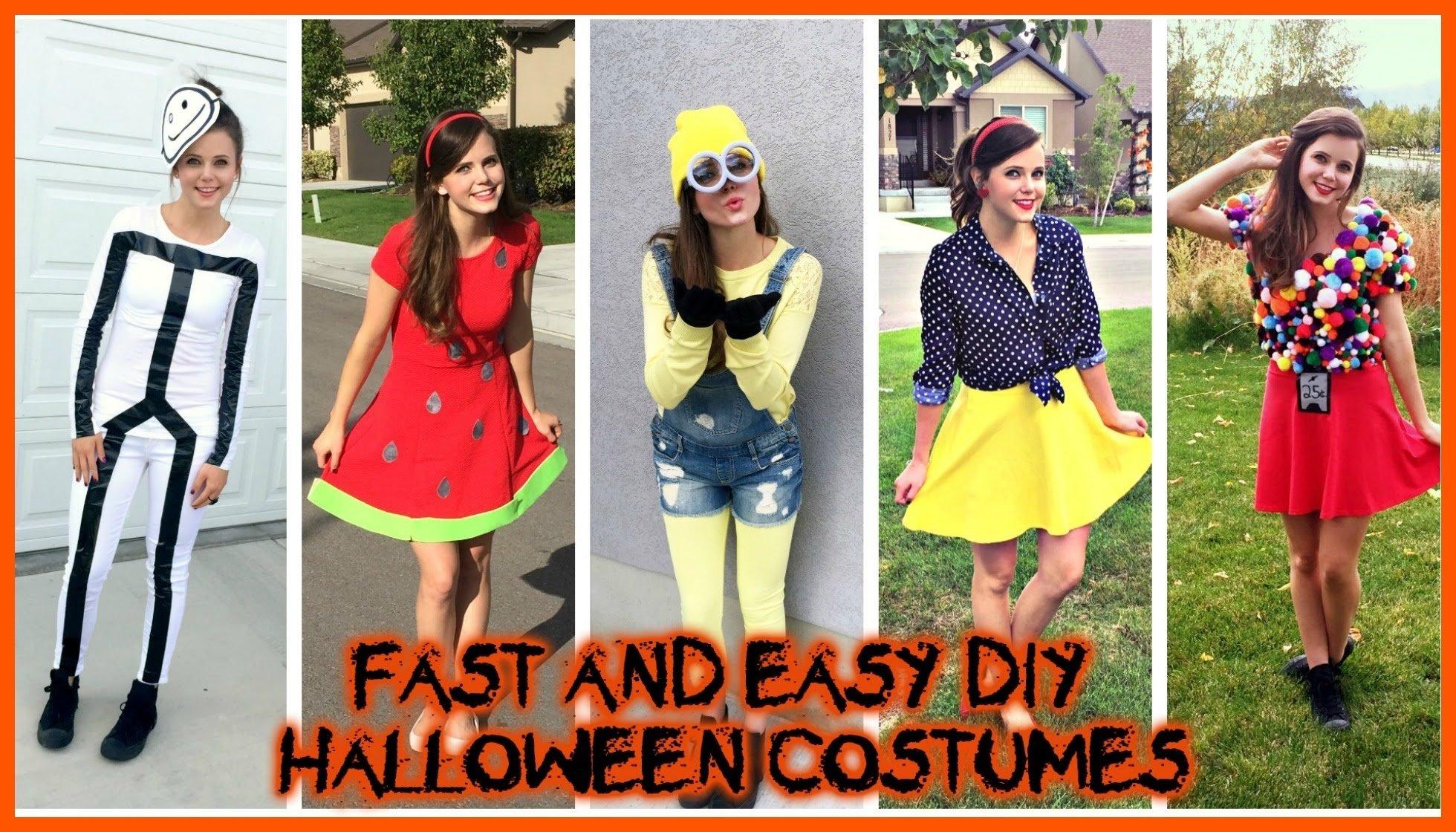 10 Amazing Last Minute Homemade Costume Ideas diy halloween costumes super easy cheap last minute ideas tiffany 4 2021