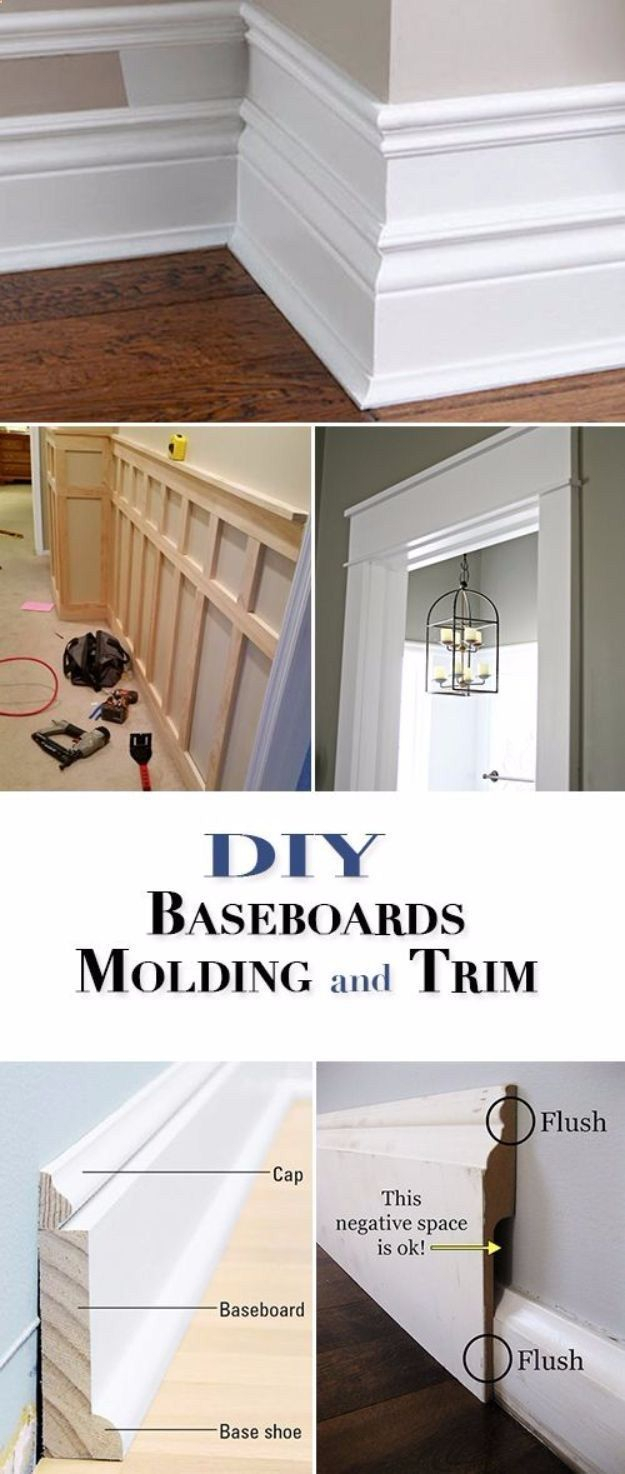 10 Attractive Do It Yourself Home Improvement Ideas diy home improvement on a budget diy baseboards molding and trim 2020