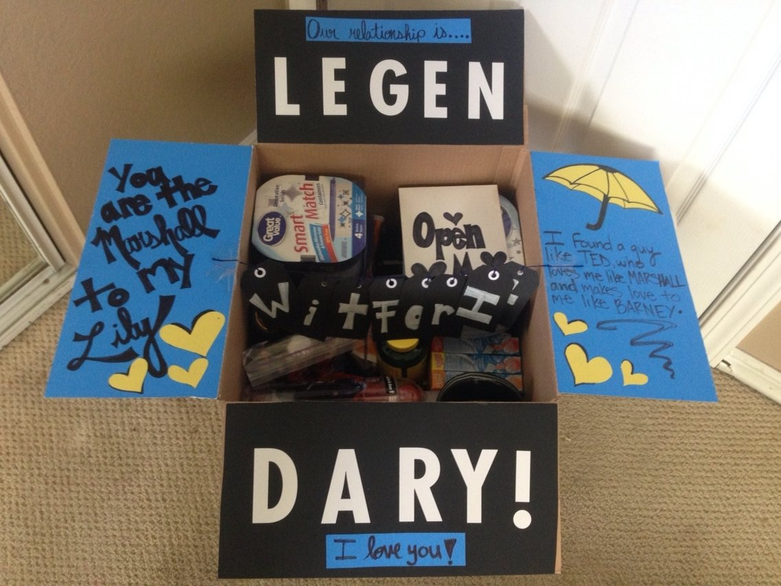 "diy ""how i met your mother"" themed care package for my sailor while"