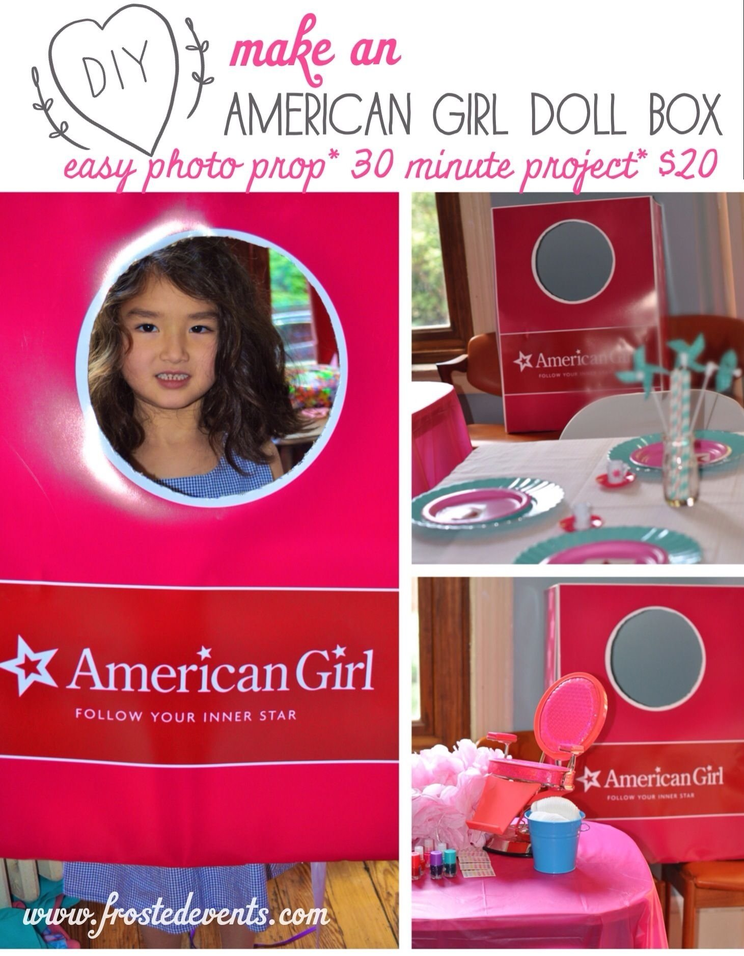 diy- how to make an american girl doll box photo prop | cake craft