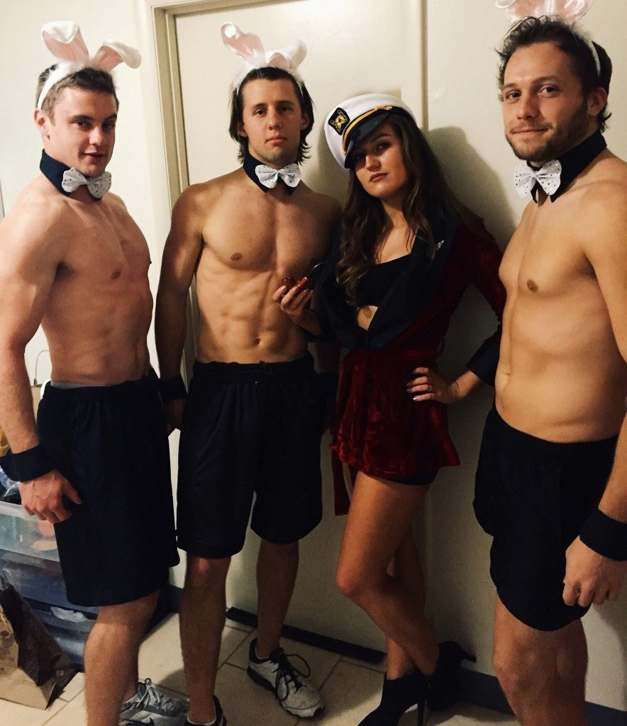 10 Amazing Costume Ideas For Groups Of 3 diy hugh hefner costume hugh hefner costumes and halloween costumes 1
