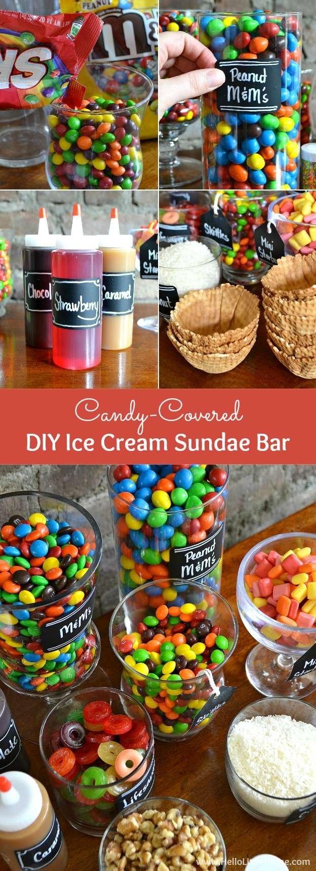 10 Beautiful Ice Cream Sundae Bar Ideas diy ice cream sundae bar tips toppings more hello little home 2020