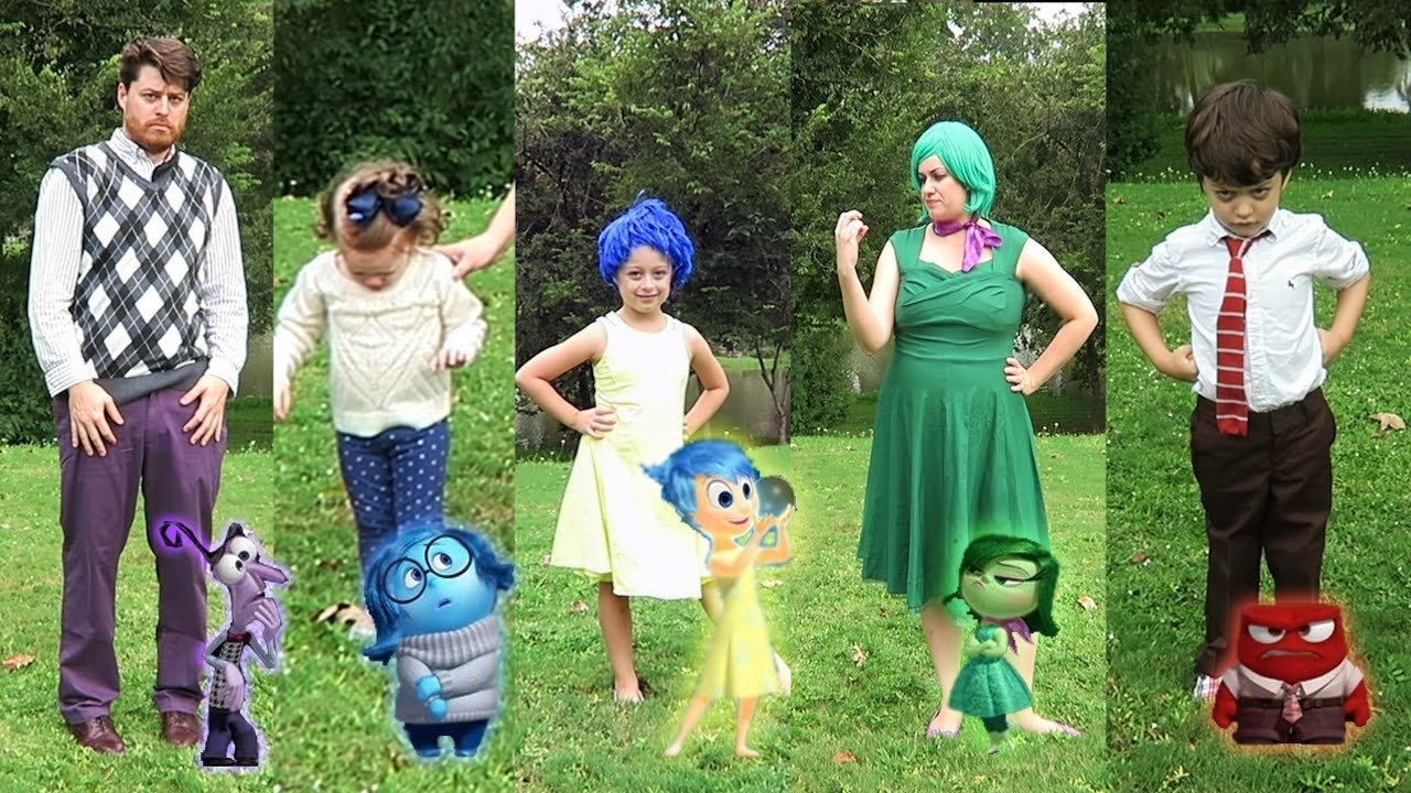 10 Perfect Family Costume Ideas For 6 diy inside out family halloween costumes and disneybounding disney 2020