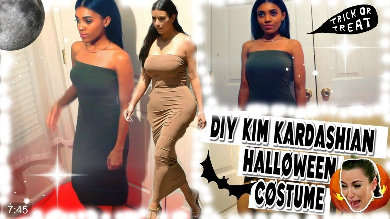 diy | kim kardashian halloween hair, makeup, outfit costume! (teeks