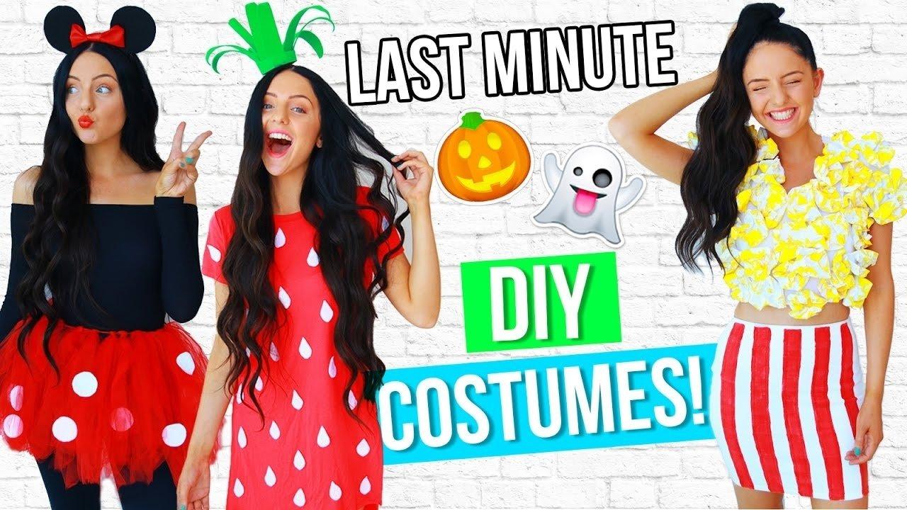 10 Attractive Last Minute Easy Costume Ideas diy last minute costume ideas for halloween 2016 easy youtube 1 2020