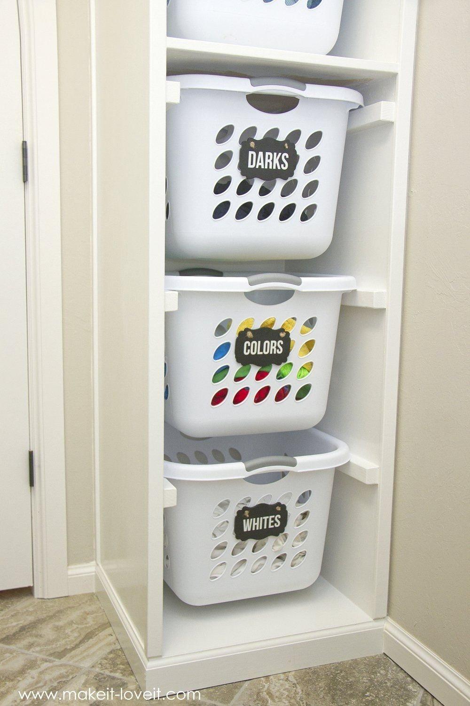 10 Elegant Do It Yourself Storage Ideas diy laundry basket organizer built in laundry laundry rooms 2021