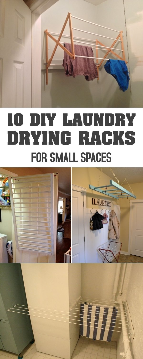 10 Ideal Laundry Room Drying Rack Ideas diy laundry drying racks for small spaces