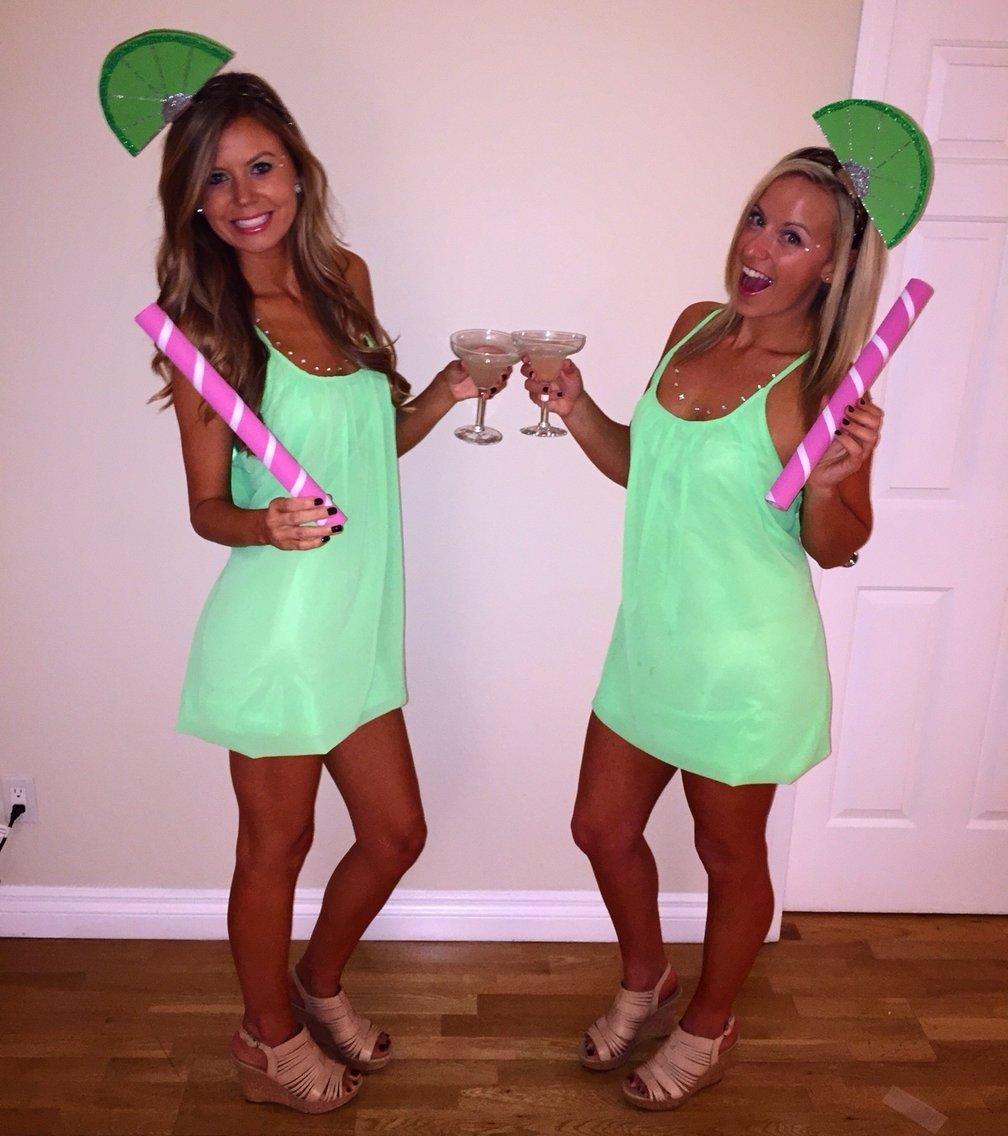 10 Cute Homemade Adult Halloween Costumes Ideas diy margarita with lime halloween costume feeling crafty 23
