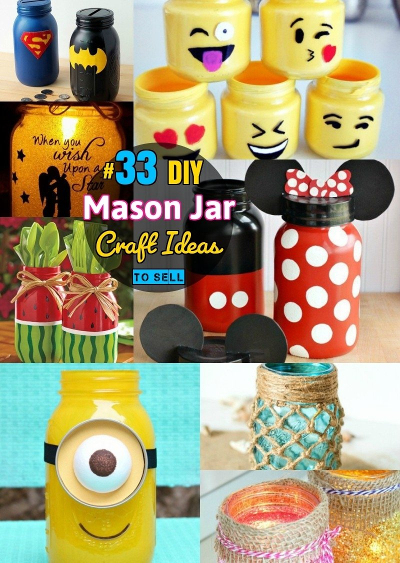 10 Fashionable Unique Craft Ideas To Sell diy mason jar crafts 33 mason jar craft ideas even you can sell 2020