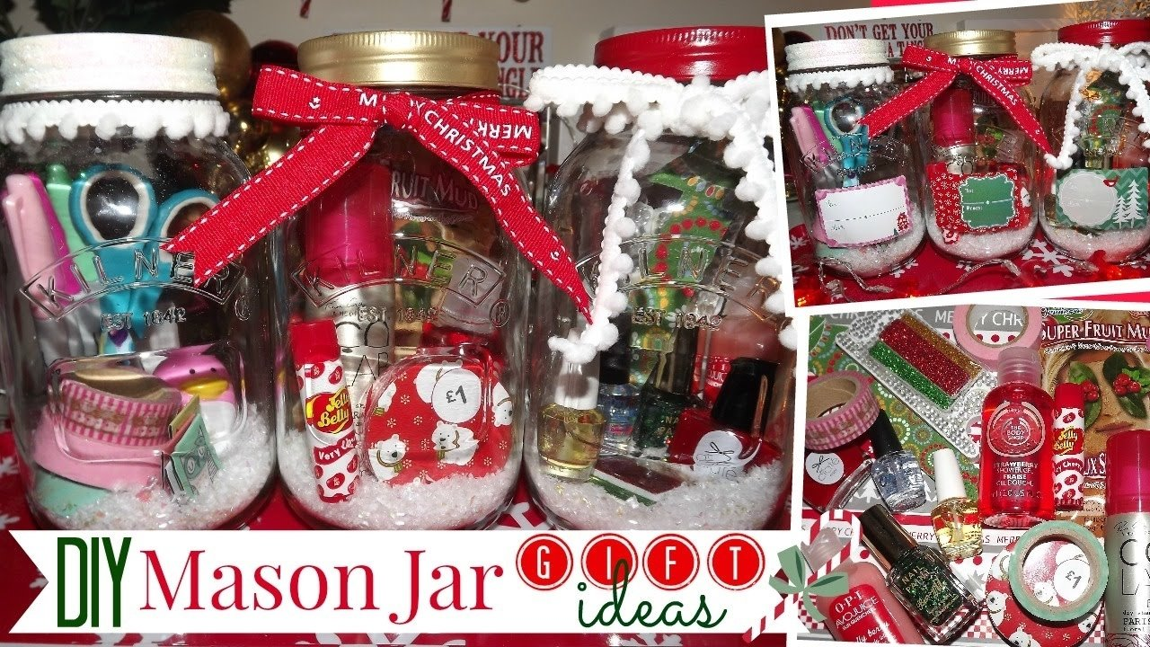 10 Cute Mason Jar Christmas Gift Ideas diy mason jar gift ideas affordable and easy youtube