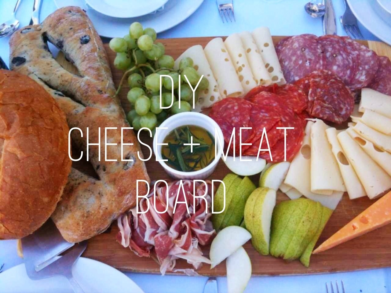 diy: meat and cheese platter -this beautiful day
