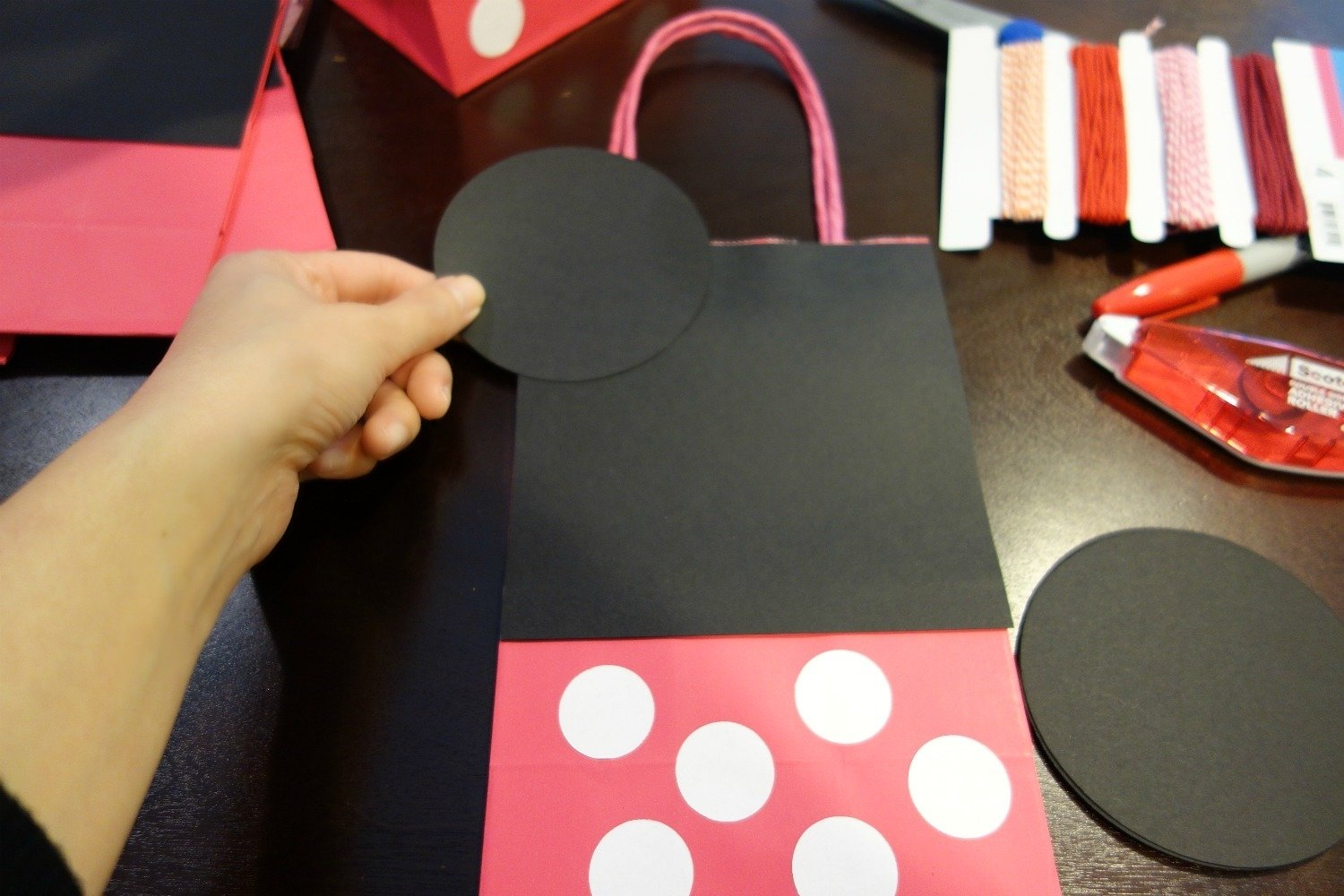10 Beautiful Minnie Mouse Candy Bags Ideas diy mickey minnie mouse goody bags the kim chronicles 3
