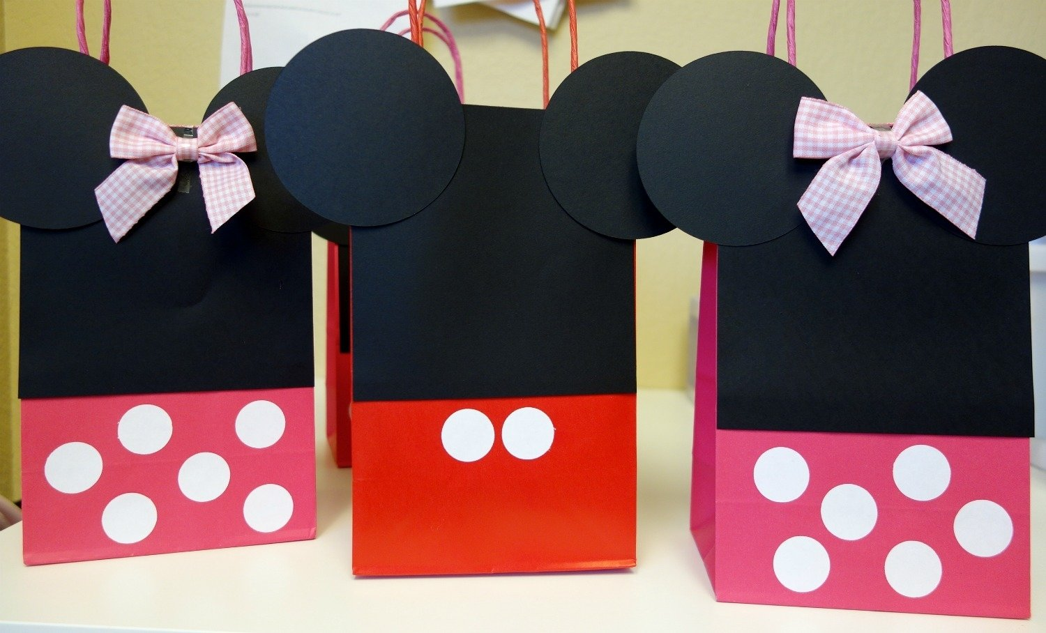 10 Beautiful Minnie Mouse Candy Bags Ideas diy mickey minnie mouse goody bags the kim chronicles 4 2020