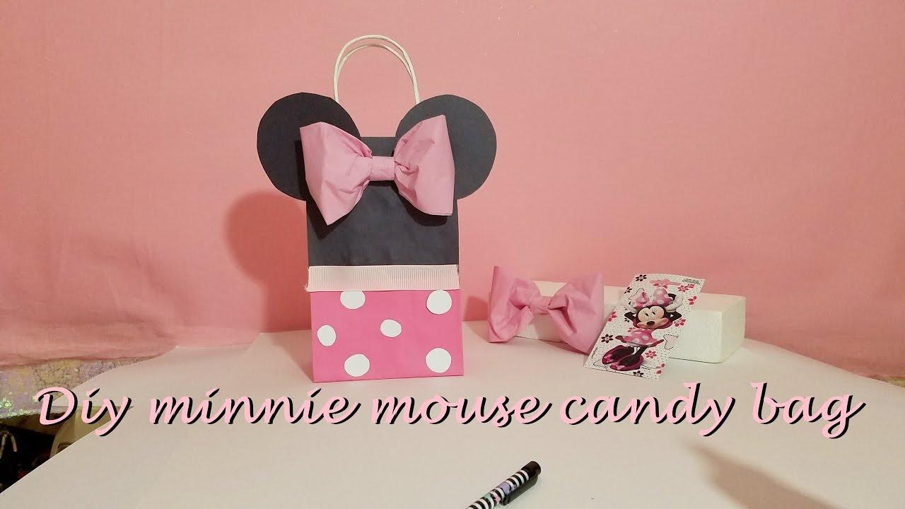 10 Pretty Minnie Mouse Candy Bag Ideas diy minnie mouse candy bag bolsa de dulce youtube 2020