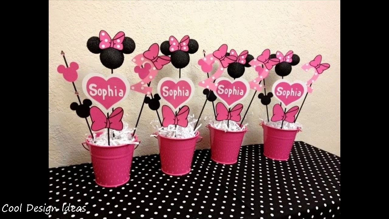 diy minnie mouse party decorations ideas - youtube