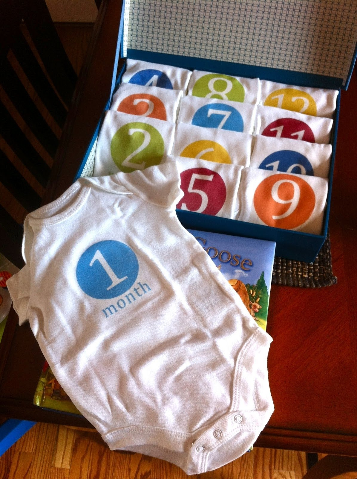 diy :: monthly onesies {baby shower gift} - stylish spoon