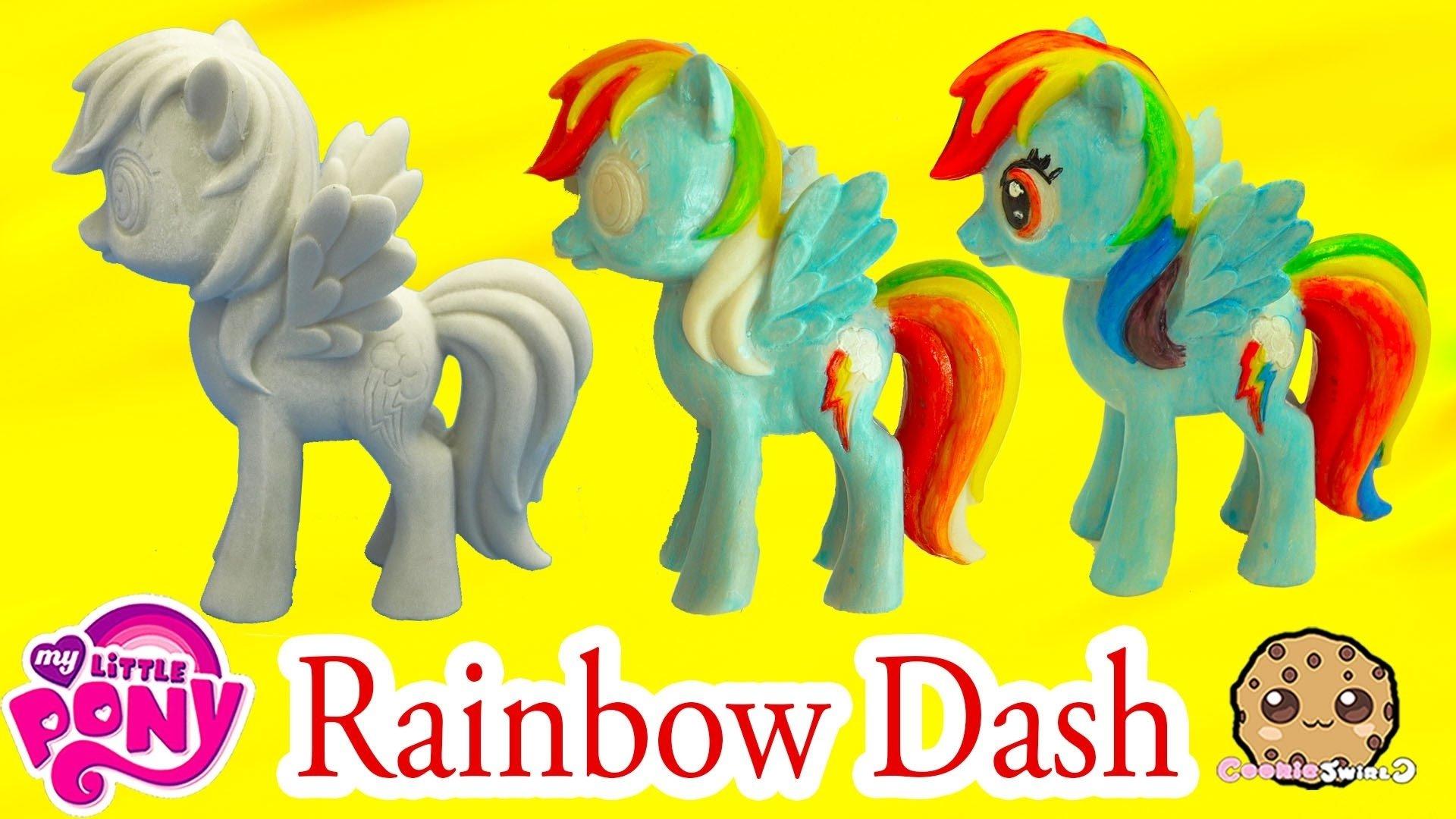 10 Stylish My Little Pony Craft Ideas diy painting my little pony rainbow dash statue paint craft do it 2020