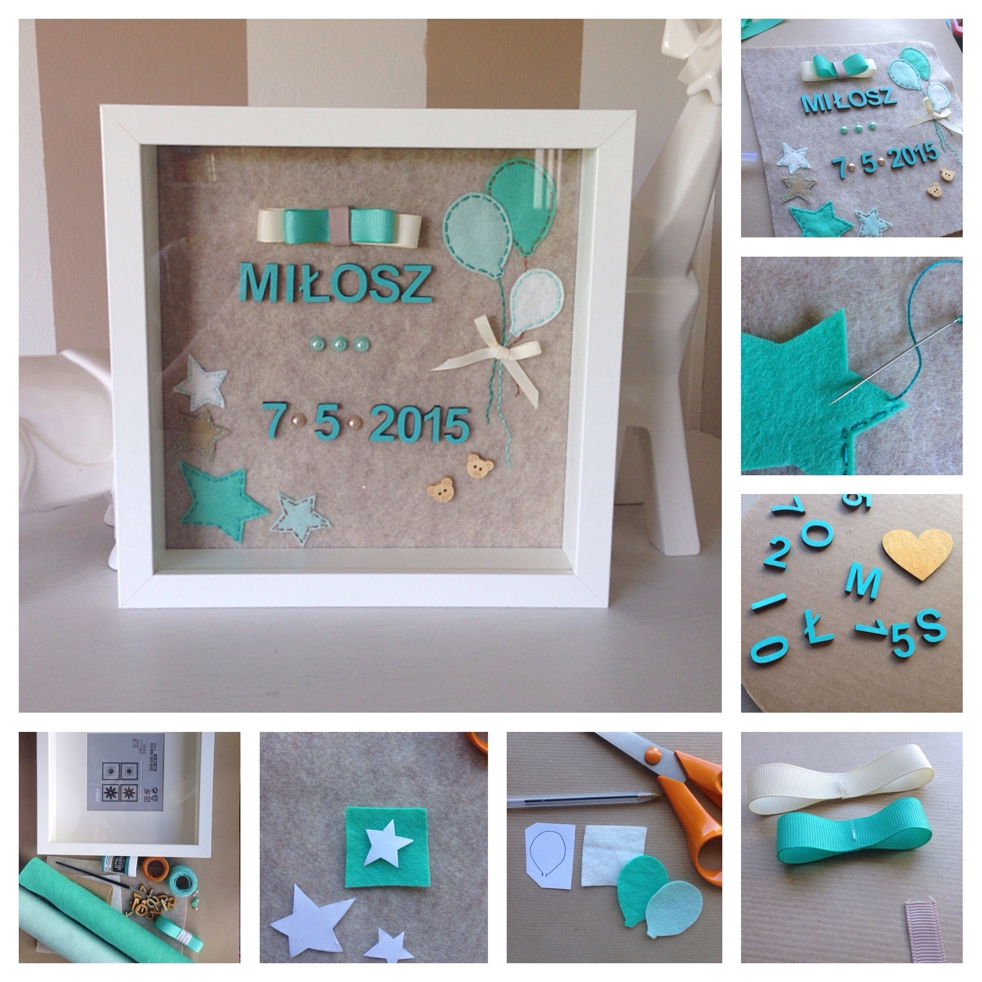 diy personalised baby gift | personalised baby, babies and crafty