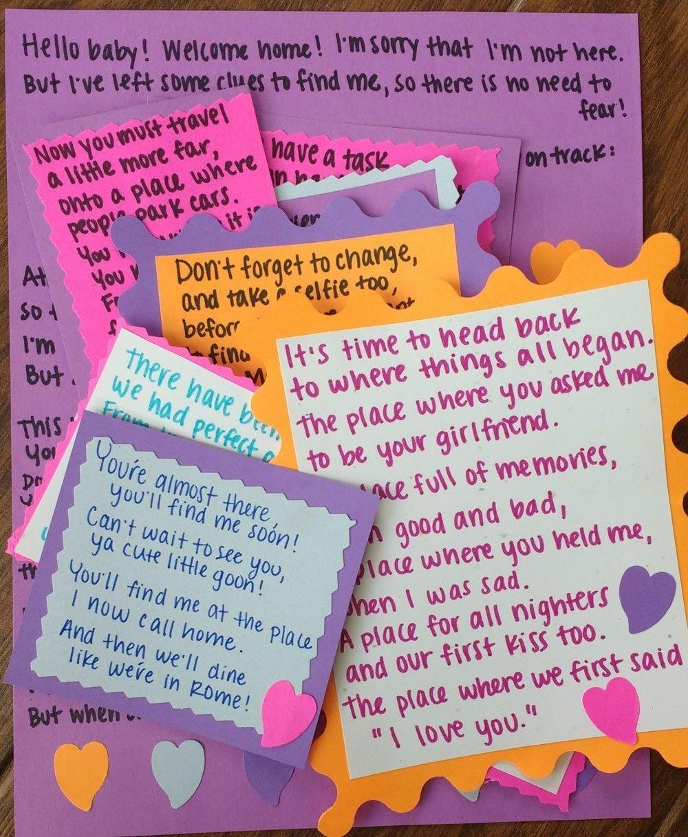 10 Attractive Scavenger Hunt Ideas For Boyfriend diy personalized anniversary gift ideas boyfriends anniversaries 2021