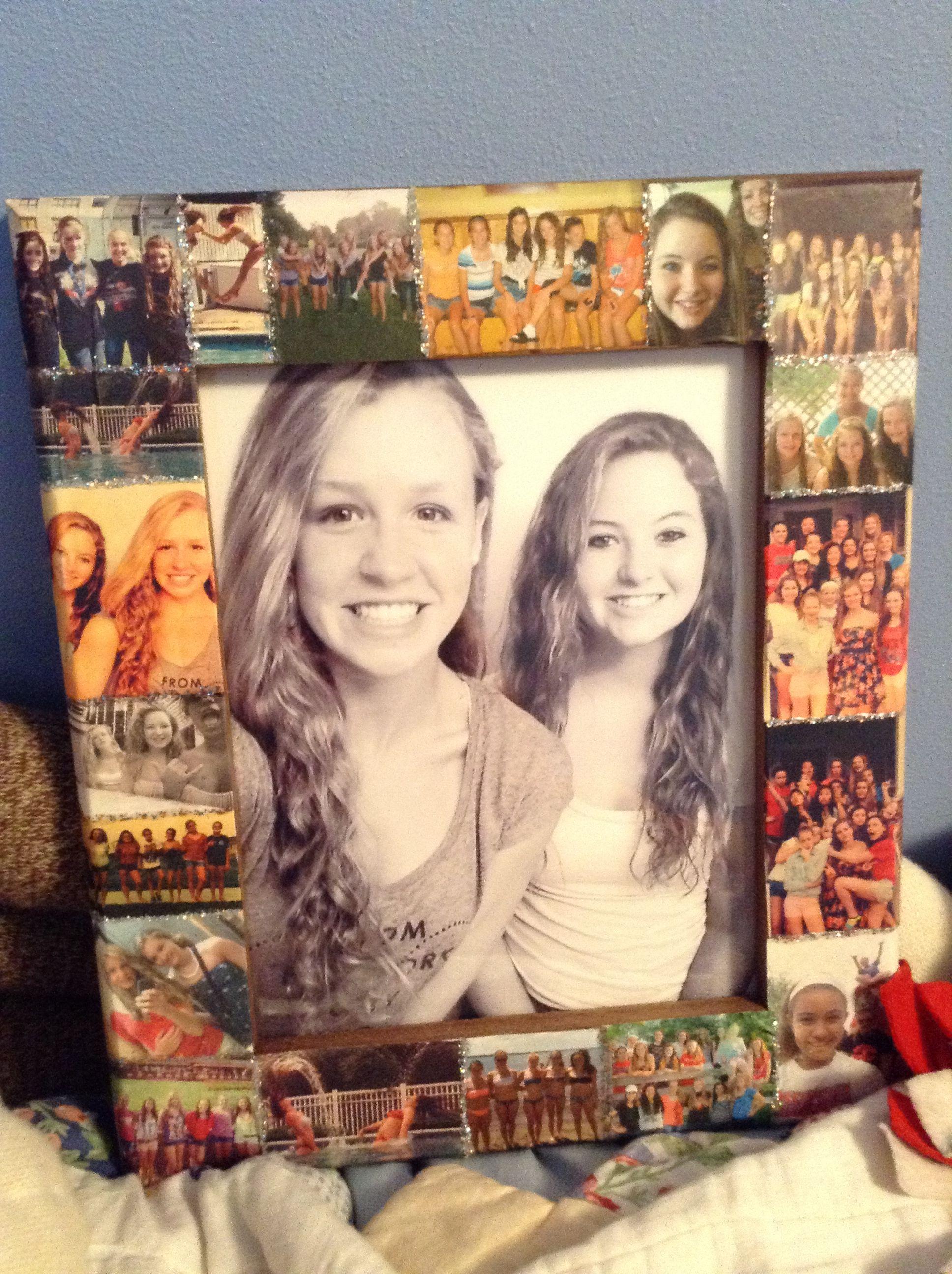 diy photo frame décor ideas | best friends pics | diy gifts, 16