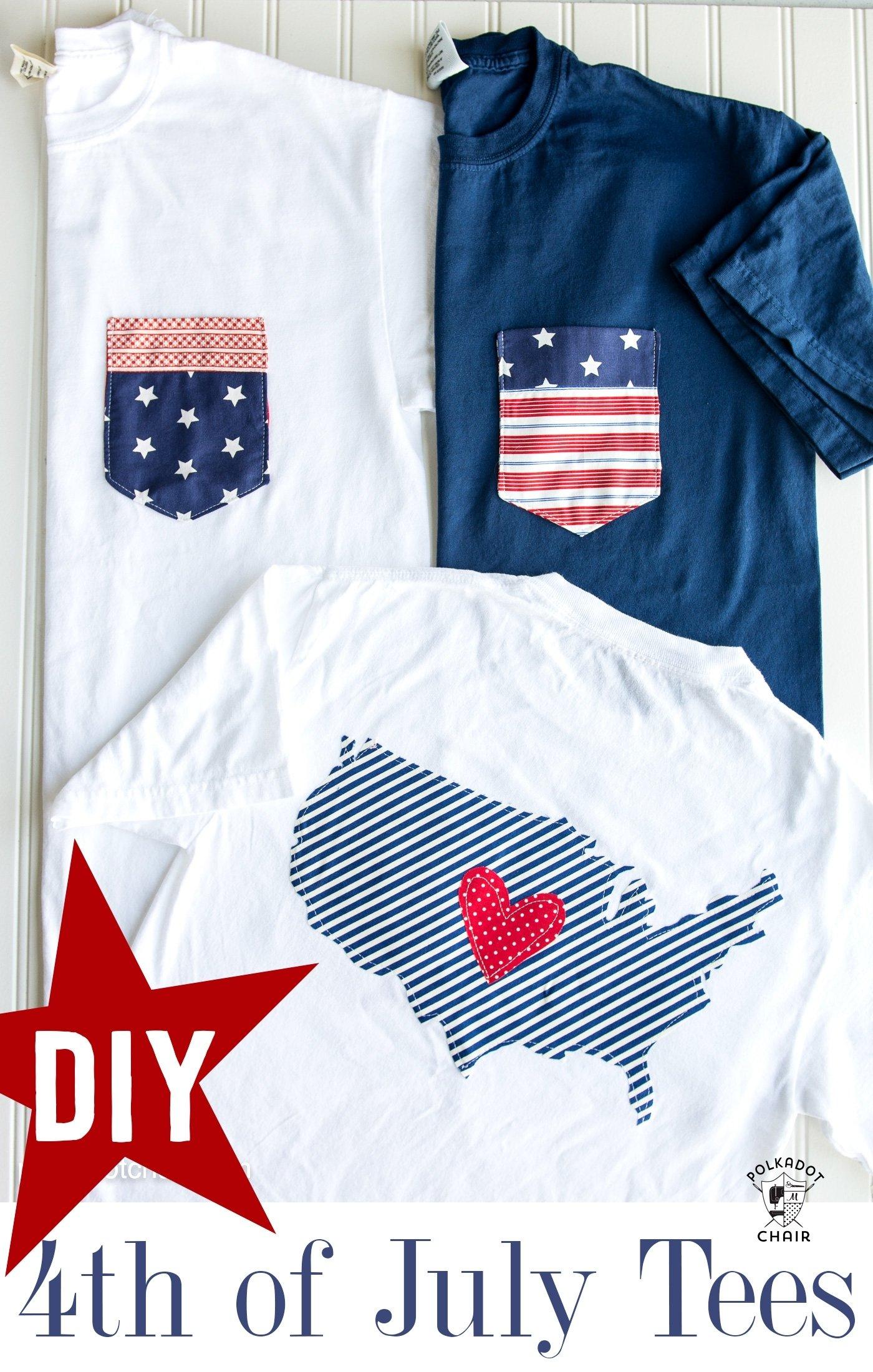 diy pocket 4th of july shirts on polkadotchair