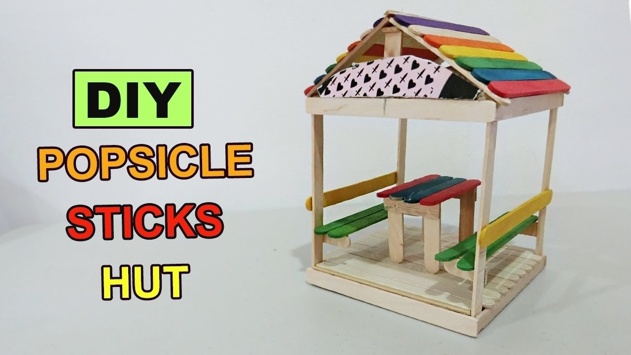 10 Spectacular Craft Ideas With Popsicle Sticks diy popsicle sticks hut 2 crafts ideas youtube 2021