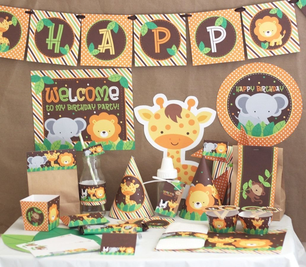 10 Spectacular Animal Themed Birthday Party Ideas diy printable party kit instant download sebis 2nd b day