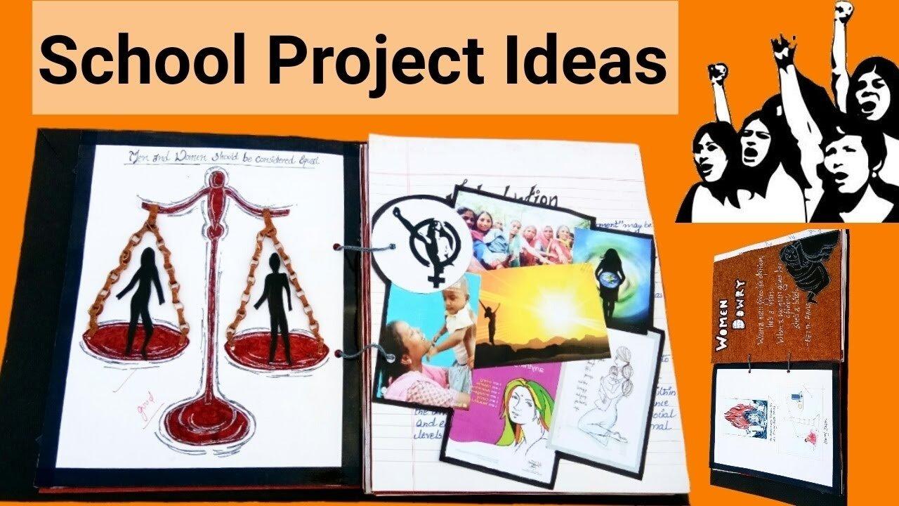 10 Beautiful Creative Project Ideas For School diy project file creative project file school project ideas 2020