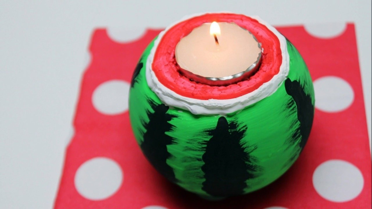 10 Wonderful Recycle Project Ideas For School diy recycled bottles crafts ideas watermelon candle holder video 1 2021