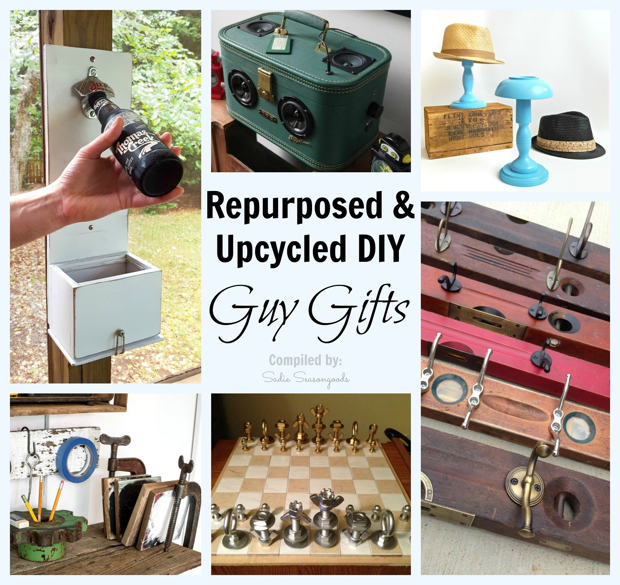 diy, repurposed, and upcycled gift ideas for guys / men