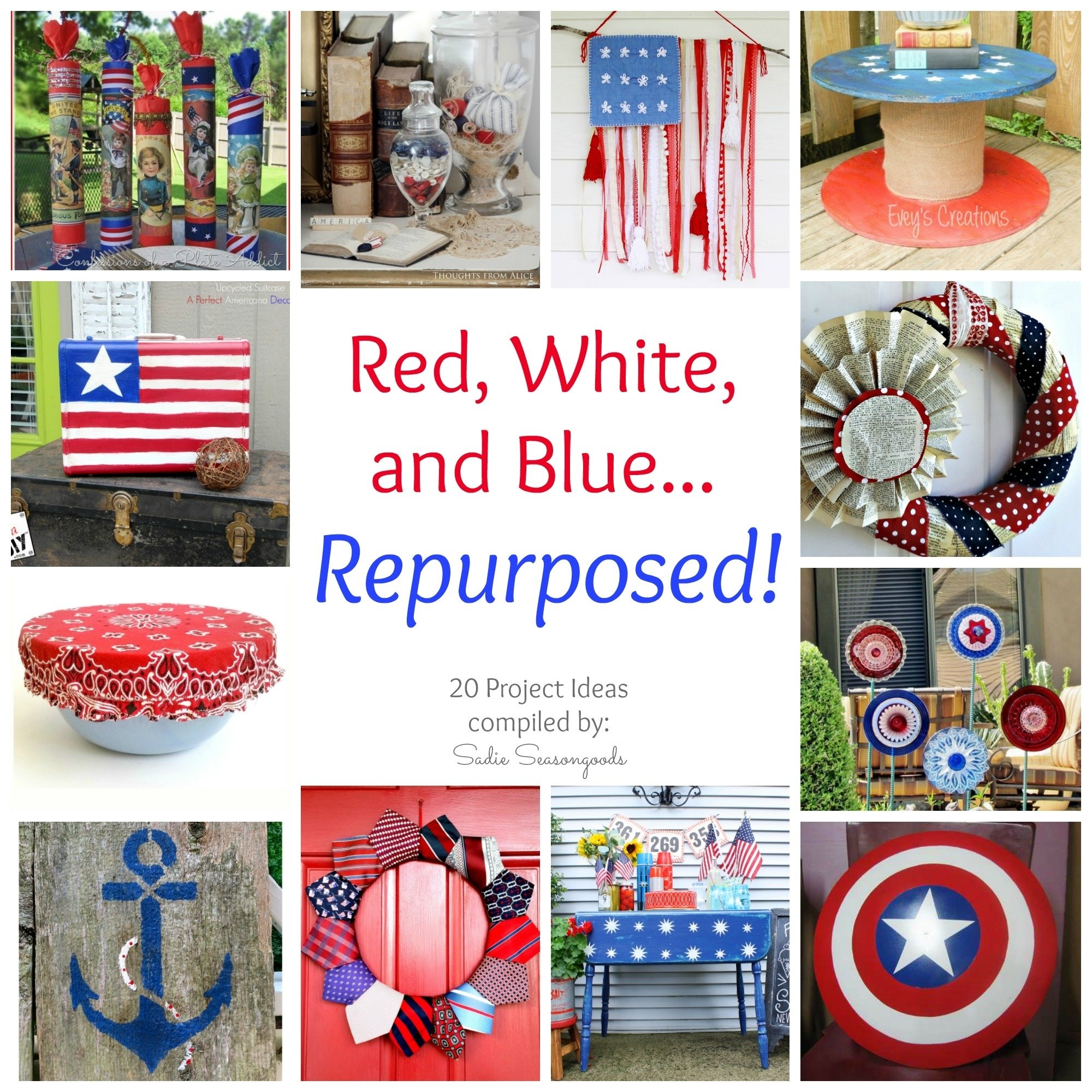 10 Beautiful Red White And Blue Party Ideas diy repurposed and upcycled patriotic project ideas 2020