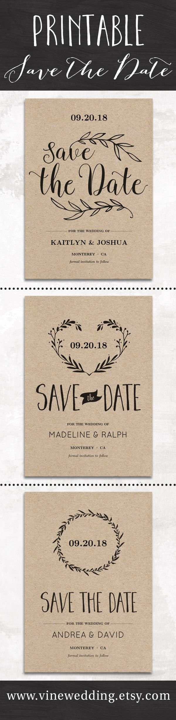 10 Stunning Diy Save The Date Ideas diy rustic save the date cards diy campbellandkellarteam
