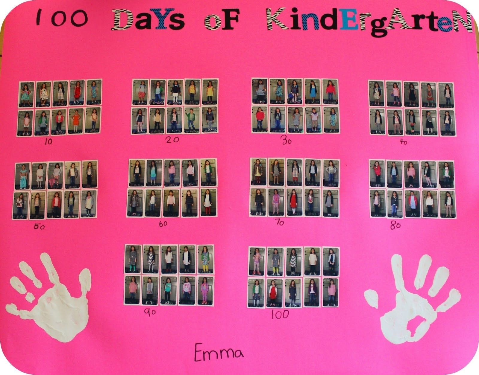 10 Cute 100Th Day Of School Poster Ideas diy school project 100 days of kindergarten poster kindergarten 2